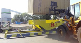 The BHS Container Tipper is capable of safely handling 20 ft containers based on a maximum operating load of 30,000 kg.