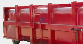 Vaccuum boxes, metal waste handling containers